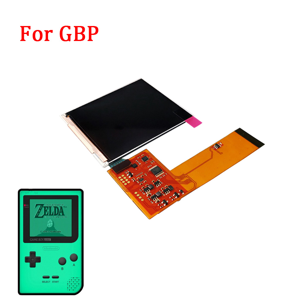 Full screen IPS LCD Kits for GBP High Light LCD screen IPS backlight screen for GAMEBOY POCKET with 36-colors background light