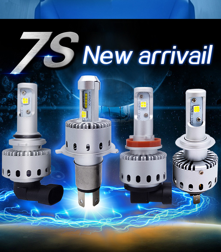 7S H4 H7 Led Car Headlight Automobiles LED Bulb XHP-50 40W 8000LM H1 H11 9005 9006 Car Styling 6500k DC12-24V image