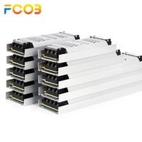 Fuente de alimentación de luz LED ultradelgada, 12V, 24V, 60W, 100W, 150W, 200W, 300W, adaptador de transformador, AC190V a 240V, controlador COB, tira LED
