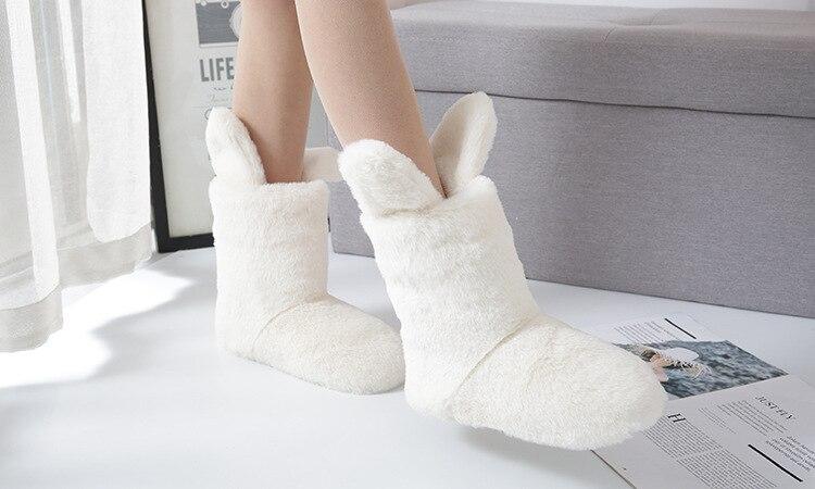 Hd8a0cb39bb0b42b68ac6dd6905a858daa Pantufa Botas quentes de pelúcia inverno mulheres pijamas cosplay sapatos de fantasia chinelos de coelho casa indoor botas mulher dos desenhos animados sapatos femininos