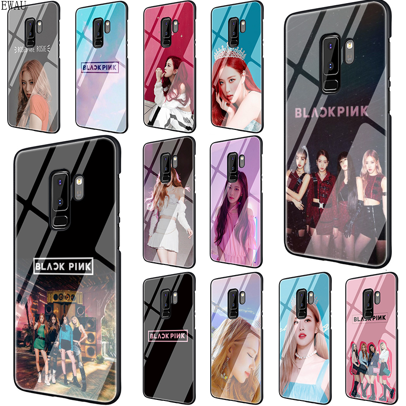 Blackpink rose Tempered Glass phone case for Samsung S7 S8 S9 S10 Note 8 9 10 plus A10 20 30 40 50 60 70 image