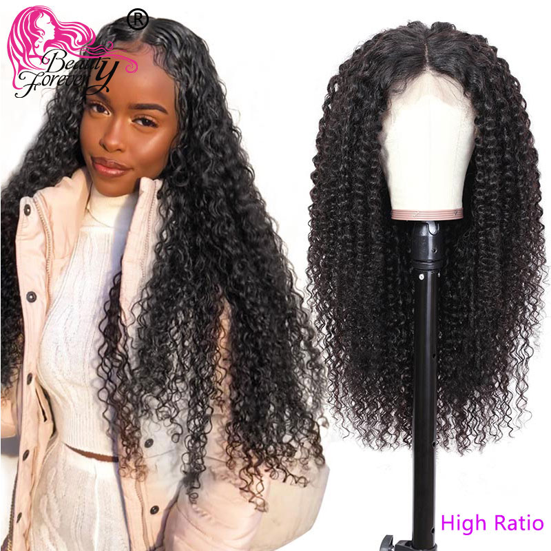 BeautyForever Malaysian Curly Hair 13*4/6 Lace Front Wigs 100% Remy Human Hair High Ratio 360 Lace Front Wigs 150%/180% Density