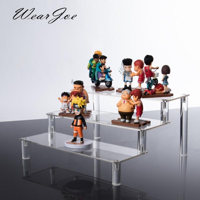 Transparent Acrylic Tiered Riser Plexiglass Step Display Jewelry Bracelet Watch Shelf For Pitch Ornaments Mirror Header Cupcake