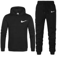 2021 neue Marke Männer Trainingsanzüge Outwear Hoodies Sport anzug Sets Männlichen Wolle pullover Männer Set Kleidung Hosen plus größe 2 stück