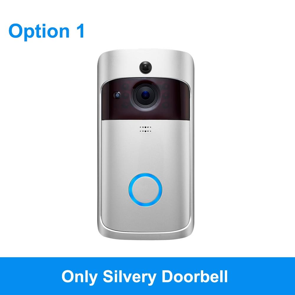 Смарт-видео, дверной звонок Беспроводная камера Wi-Fi для дверного звонка 720P Домашняя безопасность ip-интерком дверь телефон с питанием от аккумулятора PIR сигнализация облако - Цвет: Option 1