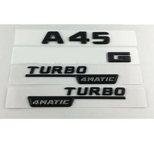 Hitam A45 Turbo 4MATIC Batang Fender Emblem Lencana untuk Mercedes Benz W176(China)