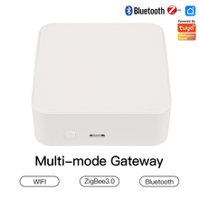 Tuya Zigbee Gateway Smart Home Zigbee Gateway Hub Remote Control Zigbee Devices Via Smart Life APP Works With Alexa High Quality