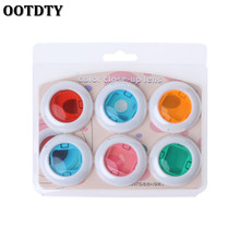 OOTDTY Instax Mini 8/8+/9/7s/KT 6 Pcs Colorful Filter Lens For Fuji Instant Film Camera