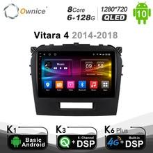 6g + 128g ownice android 10.0 octa núcleo rádio do carro dvd gps navi player dvd para suzuki vitara 2015  2018 4g dsp ótico 1280*720
