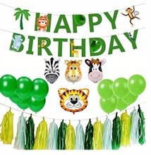 1 Set Of Mini Animal Head Aluminum Film Balloon 10 Inch Latex Green Balloon Forest Animal Theme Party Decoration Kids Love cartoon balloon animal head aluminum film size m its head nylon foil balloons