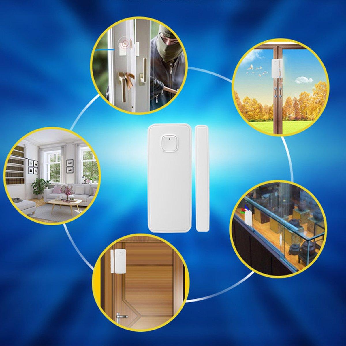 Image 2 - WiFi Smart Door Window Sensor Alarm Kit APP Control Remote Magnetic Detector Home Office Door Window Alarm Security System Set-in Sensor & Detector from Security & Protection
