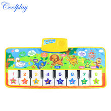 71*28cm Baby Musical Mat Music Carpet Funny Animal Voice Singing Playi
