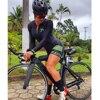 Xama ciclismo verão manga longa das mulheres ciclismo macacão bicicleta wear roupa ciclismo go pro bicicleta sportwear triathlon skinsuit 8