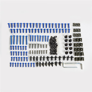 Image 5 - براغي انسيابية للزجاج الأمامي للدراجات النارية ، طقم براغي زنبركي لكاواساكي ، سوزوكي ، هوندا وياماها ، 223 قطعة