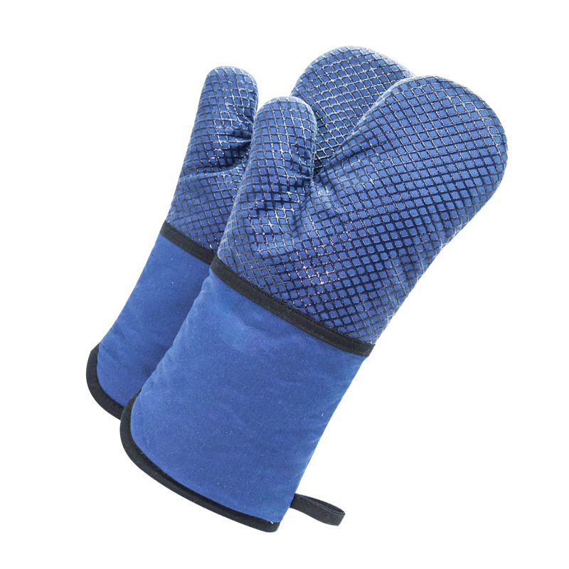 [Grid Silica Gel] New Style High Quality Silicone Thermal Insulation Gloves Oven Heat Resistant High-temperature Resistant Baker