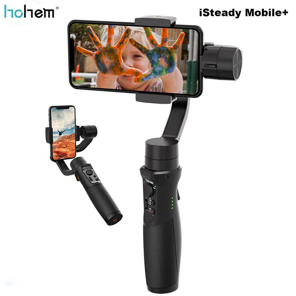Hohem iSteady Mobile+ Plus Smartphone Gimbal Stabilizer 3 Axis Handheld Gimbal for iPhone Andriod Huawei Samsung Gopro-in Handheld Gimbals from Consumer Electronics    1