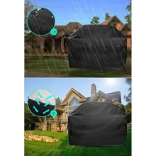 Outdoor Garden Waterproof BBQ Cover Accessories Grill Anti Dust Rain Gas Charcoal Electric Barbeque