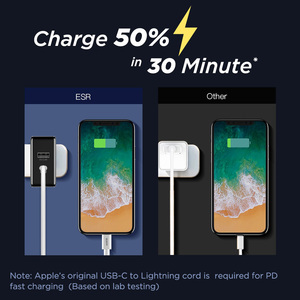 Image 2 - ESR PD Charger 30W USB C USB Dual Port Quick Charging Wall Charger 18W Fast Charger for iPhone 12 Pro Max SE 11 Pro XR XS Max