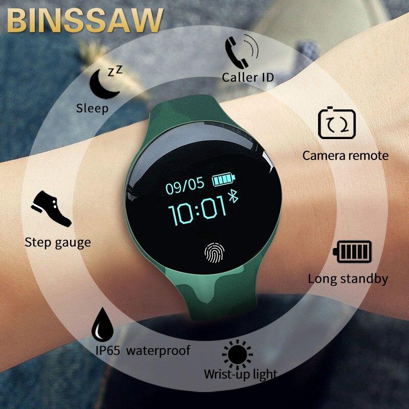 BINSSAW Men Women Smart Watch For IOS Android  Waterproof Sport Intelligent Watches Pedometer Calories Reminder Fitness Bracelet