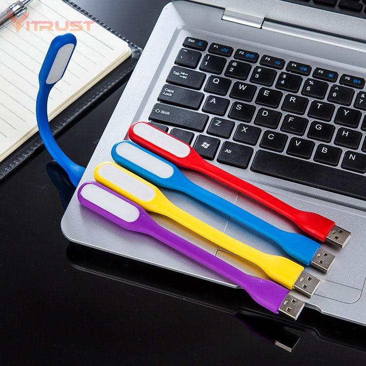 נייד מיני USB אור גמיש חירום לכוח בנק מחשב קריאת לילה אור