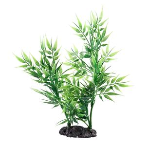 Hot New Green Bamboo Leaves Shaped Decorative Artificial Grass for Aquarium Fish Tank