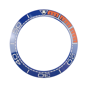 Image 5 - Yeni 41.5mm yüksek kaliteli seramik çerçeve takımı için deniz ana dalgıç erkek saati saatler aksesuarları değiştirin mavi/siyah/ turuncu