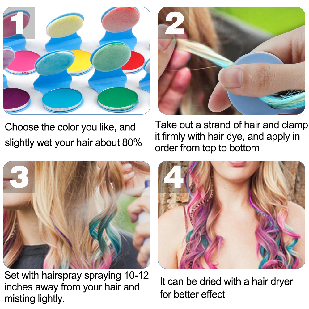 8 Colors Hair Chalks Powder DIY Temporary Women Hair Color Pastels Salon Styling Tool Portable Paint Beauty Dye Styling Accessor 4