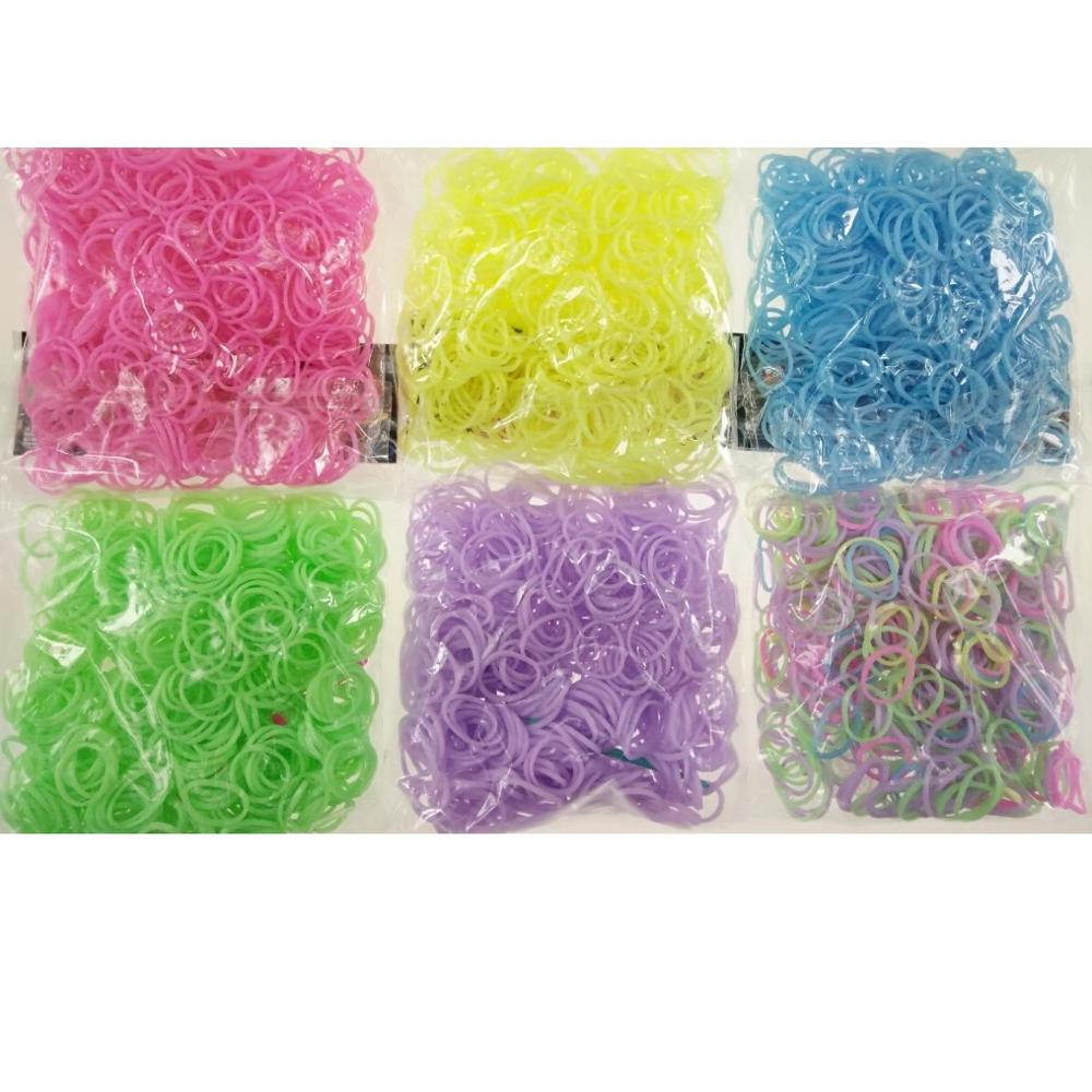 Loom Rubber Bands Bracelet For Kids Or Hair Rainbow Rubber Loom Bands Make Woven Bracelet DIY Toys Christmas Gift