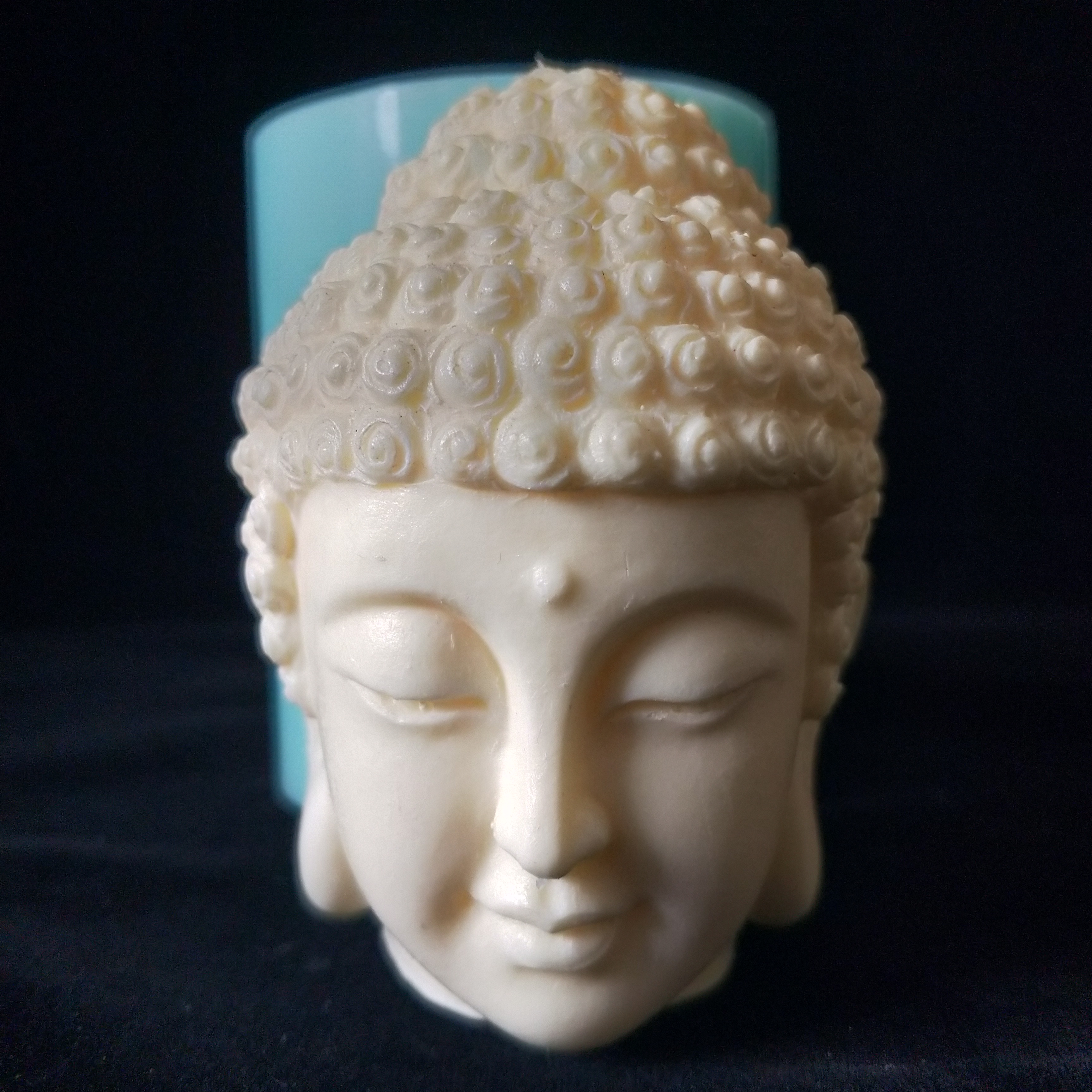 3D Buddha Head Candle Mould Silicone Mould for Candle DIY Handmade Resin Mould