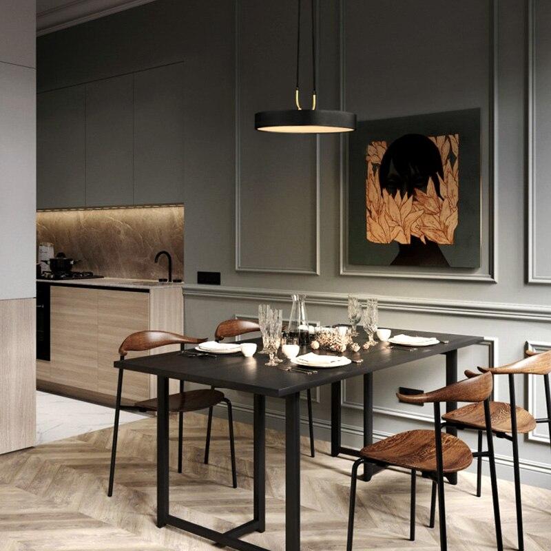 Aisilan minimaliste pendentif LED lumière style nordique cylindrique moderne pour salle à manger café bar personnalité suspension - 3