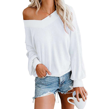 цена на Knitted Sweater Women Elegant V Neck Loose Casual Sweater Tops Autumn Batwing Long Sleeve Sweater Oversized Pullover Sweater