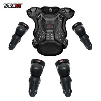 WOSAWE Kids Armor zestaw ochronny Body Chest kręgosłupa osłona zabezpieczająca kamizelka motocykl motor Skating dziecko zbroja garnitur z kamizelką tanie i dobre opinie CN (pochodzenie) Kombinacje Protector Unisex protecitve armor Sports armor 5-12 years old