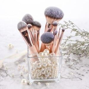 Image 3 - BBL 1pcs Pink Makeup Brush Kabuki Powder Foundation Blush Dual Ended Sculpting Blending Highlighter Smudge Eyeshadow Nasal Brush