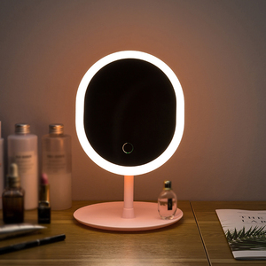 Led Makeup Mirror M007-1 USB Storage LED Face Mirror Adjustable Touch Dimmer Led Vanity Mirror Stand Up Desk Cosmetic Mirror