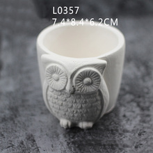 Owl Pattern Clear Water Concrete Meat Pot Mould Minimalist Style Cement Pen Hold