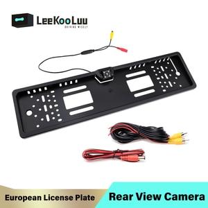 LeeKooLuu EU License Plate Frame Car Rearview Camera 170 degree Rear View Reverse Camera Parktronic Back Up Waterproof Camera