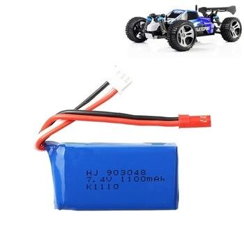 Original Brand For Wltoys A949 A959 A969 A979 K929 1/18 Rc Car LiPo Battery 7.4V 1100mah 25c 27 Part for RC
