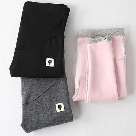 gravidas leggings engrossados calcas roupas de inverno