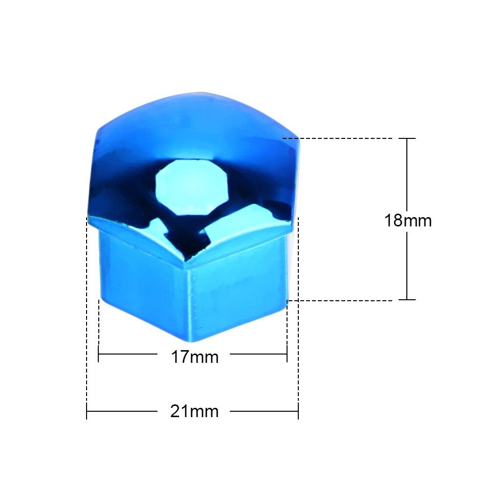 17mm 20 pieces tampas de proteção tampas de porca de roda de carro anti-ferrugem auto hub parafuso de cobertura de pneu de carro porca parafuso decoração exterior-3