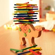 Деревянные верблюд, слон, балансировочный стек для животных, красочный блок, развивающие игрушки для детей, подарок