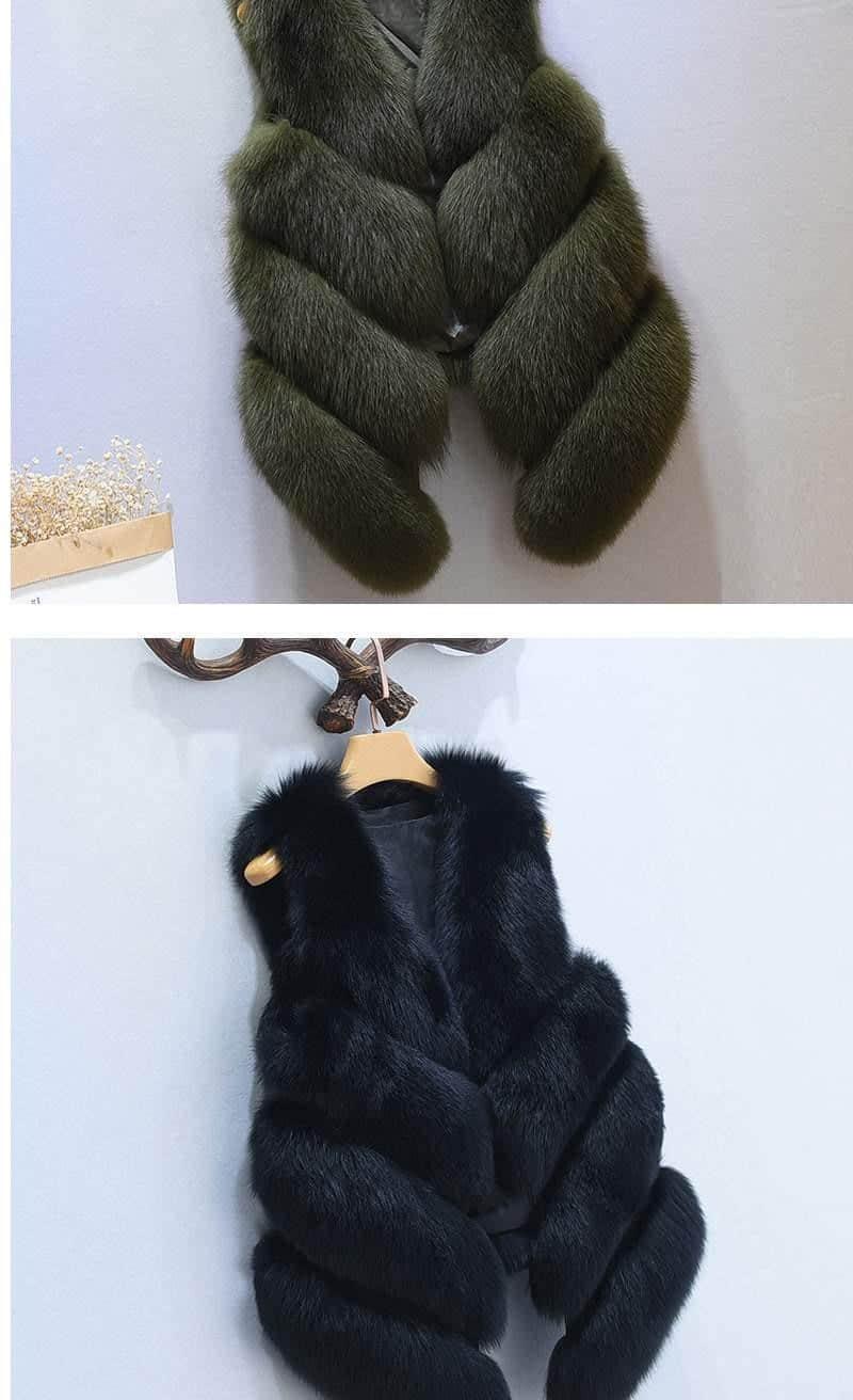 Women's Fox Fur Waistcoat 12