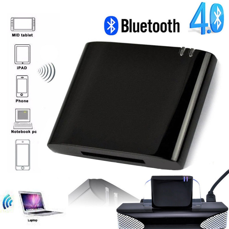 New Mini Bluetooth 4.1+EDR Receiver A2DP & AVRCP Music Class 2 30-Pin Dock Connector For IPad IPod IPhone Speaker