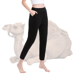 2019 зимние утолщенные штаны из верблюжьей шерсти, женские теплые штаны до колена, утолщенное термобелье, женские теплые штаны