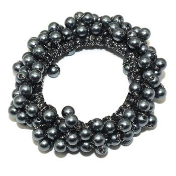 14 Colors Woman Elegant Pearl Hair Ties Beads Girls Scrunchies Rubber Bands Ponytail Holders Hair Accessories Elastic Hair Band 10