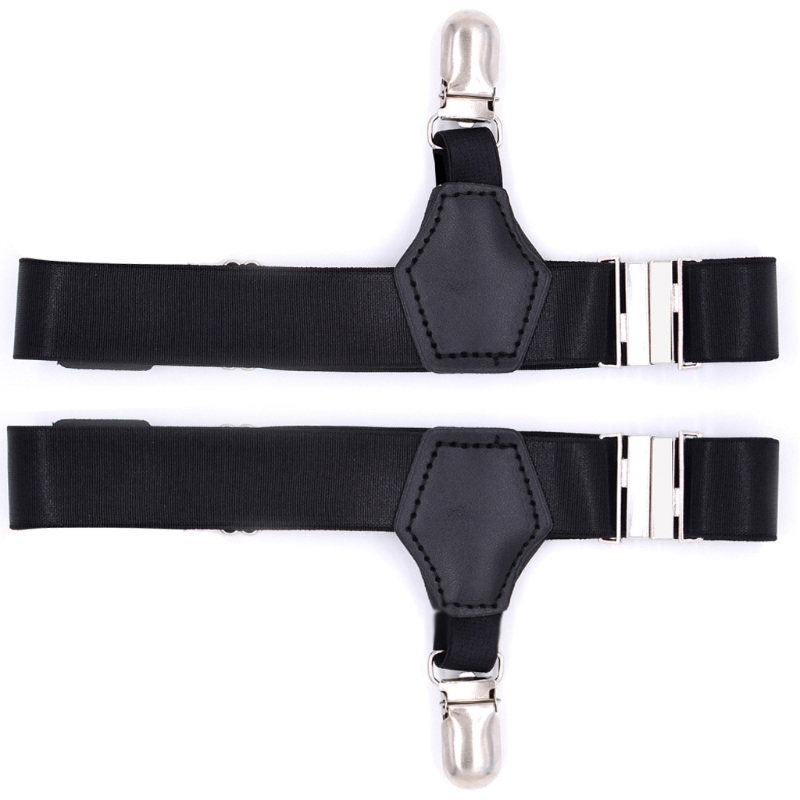 2Pcs Elastic Men Sock Suspenders Garter Hold Up Braces Duck Clip Grip Adjustable 649C