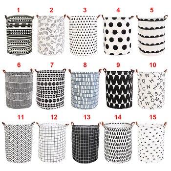 New 1PC Foldable Laundry Basket Large Capacity Laundry Hamper Dirty Clothes Storage Organizer Bucket Homehold Storage Bag