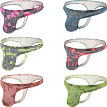 Underwear Sexy Thong Panties Big Pouch Low-Rise T-Back Men's Camouflage