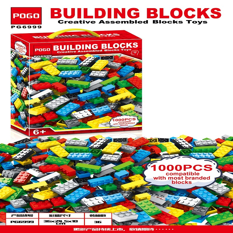 <font><b>1000</b></font> <font><b>Pcs</b></font> DIY Creative Assembled Building Blocks Toys Classic Technic Creator Bricks Assembly Brinquedos Kids Educational Toys image