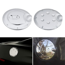 1 Pc Car Fuel Tank Covers Stickers Auto Gas Door Cover Tank Caps For Ford F150 2009-2014 Exterior Accessories Silver