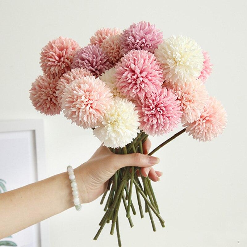 1 / 3 / 5 шт. букет искусственных цветов из натурального шелка, принт в виде одуванчиков, пышная детская одежда поддельные «сделай сам» для дома...